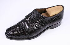 * JOHN LOBB * Bespoke London Black Genuine Crocodile Oxford Dress Shoes US 7