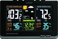 La Crosse Wireless WEATHER FORECAST STATION, Digital Color WEATHER STATION Black