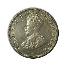 elf Straits Settlements 10 Cents 1919  Silver  George V Clashed Dies
