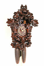 original cuckoo clock black forest 8 day  german wood  carved mechanical new