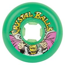 Santa Cruz SLIME BALLS CRYSTAL BALLS Skateboard Wheels 54mm 81b GREEN