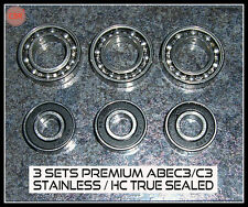 3 SET Deal sav$ RC PREMIUM BEARINGS ABEC3 OS 46AX 46FX  SAITO FA82 FA91 120P 130