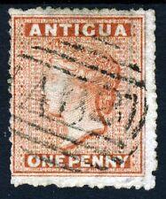 ANTIGUA Queen Victoria 1867 1d. Vermilion Perf 14 Wmk Small Star SG 7 VFU