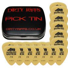24 X Dunlop Ultex Standard Guitar Picks / plectrums - 0,73 mm en un práctico Pick Tin