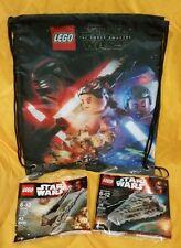 NEW! Lego Force Awakens Kylo Ren's Command Shuttle Star Destroyer Drawstring Bag