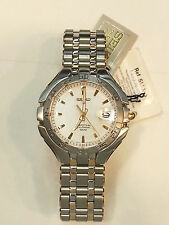 SEIKO Men 2 tone Stainless Steel Perpetual Calendar Watch 100m SLL180 White Dial