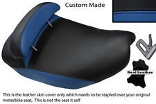 BLUE & BLACK CUSTOM FITS PIAGGIO HEXAGON 125 DUAL LEATHER SEAT COVER