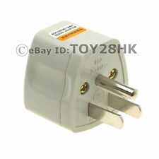 USA/Canada Grounded Travel Adapter Convert EU GB AU China to US Plug