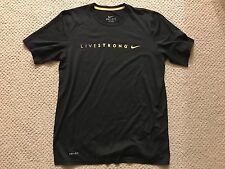 Nike Dri-Fit Livestrong Lance Armstrong Short Sleeve Shirt Medium Black