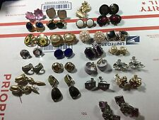 Vintage clip earrings 25 pair, ....21 clip and 4 sets w/screw backs VINTAGE COND
