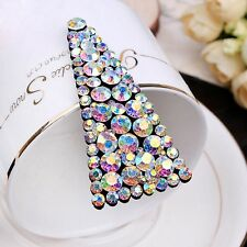 Quality Handmade Hair Clip Bobby Pin use Swarovski Crystal Hairpin AB Colorful 2
