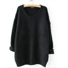 Womens Batwing Sleeve Oversized Baggy Knitted Jumper Loose Sweater Cardigan