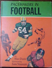 """PACEMAKERS IN FOOTBALL"" 1968 FIRST PRINTING HARDCOVER BOOK by MAC DAVIS"