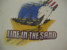VTG WAR Draw The Line in the Sand Army Military Tank Uncle Sam Marines T shirt L
