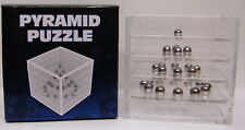 Pyramid Puzzle 3D Ball Bearing Puzzle Game In Cube