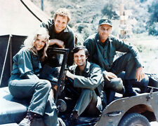 M.A.S.H. 8X10 COLOR PHOTO CAST IN JEEP
