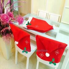 Luxury Santa Claus Red Hat Chair Back Cover Xmas Christmas Dinner Table Decor