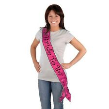 "Bachelorette ""BRIDE TO BE"" Satin SASH Novelty PARTY ACCESSORY"