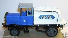 OLD ZISS MODELL MADE IN GERMANY HENSCHEL BAUJ 1926 TANKER TRUCK ARAL 1/43 METAL