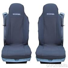 2 BLACK FABRIC TAILORED SEAT COVERS FOR SCANIA G P R  SERIES  LHD/RHD NEW