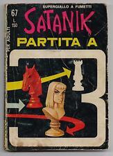 SATANIK N. 67 PARTITA A TRE editoriale corno 1967