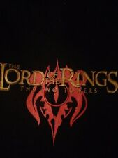LORD OF THE RINGS The Two Towers Black T shirt Front & Back Graphics sz 2XL RARE