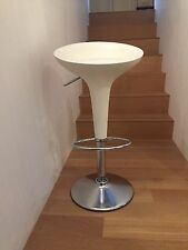 Authentic Magis Bombo Stool by Herman Miller - White -  Adjustable Height