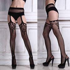 Sexy Femme Couture Dentelle Bas Collants Résille Leggings Porte-Jarretelle Neuf