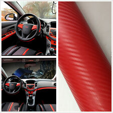 Auto Interior Accessories Console Dashboard Red Carbon Fiber Vinyl Wrap Sticker