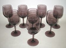 Royal Grape Amethyst Colored Wine Glasses Set of 8 in Box Montibello by Libbey