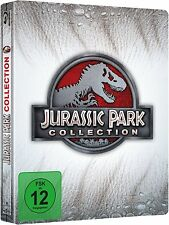 JURASSIC PARK 1-4 COLLECTION (4 Blu-ray Discs, Steelbook) NEU+OVP Jurassic World