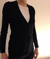 CHANEL uniform black wool cardigan XS