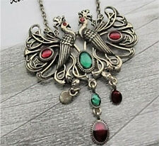 Fashion Retro Jewelry Charm Women Beautiful Peacock Pendant Long Chain Necklace