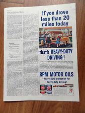 1960 RPM Motor Oil RPM Ad Family Shopping at the Super Market Heavy Duty Driving