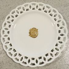 Antique Minton Plate Retailed By Mortlock Gilt Monogram Porcelain China
