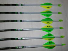 @NEW@ 6 Easton Axis N-Fused 340 Carbon Hunting Arrows! Crested & Blazer Vanes