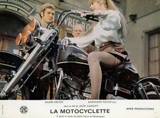 MARIANNE FAITHFULL  THE GIRL ON A MOTORCYCLE 1968 LOBBY CARD #6 HARLEY DAVIDSON