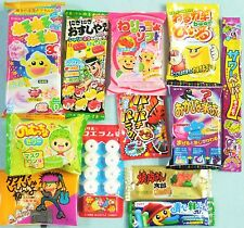 12 PCS SET Japanese Candy Dagashi Lot of candy Kracie popin cookin Meiji Gift