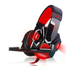 Surround Estéreo Gaming Cascos Auriculares de diadema USB-3,5 mm LED con Mic