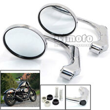 Inversion Chrome Motorcycle Bar End Side Mirrors Aluminum Rearview Mirror M10