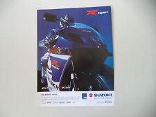 advertising Pubblicità 2005 MOTO SUZUKI GSX 750 R