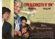 Mrs Doubtfire movie poster - Robin Williams poster, Sally Field - 12 x 16 inches