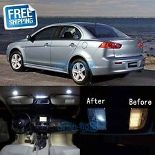 White LED Lights Interior Package Kit For 2008-2015 Mitsubishi Lancer