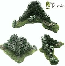 Wargames Scenery Terrain 28mm Resin Ruined Corner Piece - Frostgrave, Warhammer