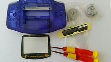 HOUSING POUR GAMEBOY ADVANCE PIKACHU CLEAR HARD BLUE NEW
