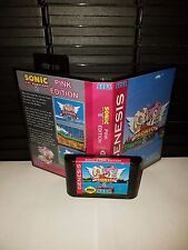 Sonic The Hedgehog 2 Pink Edition Game for Sega Genesis! Cart & Box