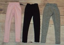 3 pair Barbie Leggings ~ Light Pink, Black, Gray ~ Fashion Doll Clothes