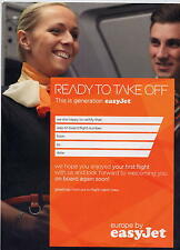 easyJet first flight certificate battesimo volo no airline brochure poster ax