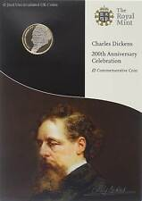 Royal Mint 2012 BU £2 Coin Charles Dickens Presentation Pack Two Pound