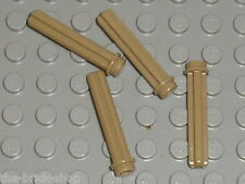LEGO TECHNIC axle 3 with stud 6587 DkTan / Set 10240 75059 42043 8081 10225 9397